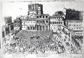 Benediction of The Pope in St.Peter''s Square, c.1583
