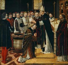 Ordination of St. Augustine (tempera on panel) 0532