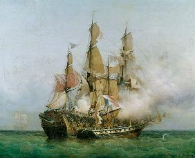 The Taking of the 'Kent' by Robert Surcouf (1736-1827) in the Gulf of Bengal, 7th October 1800 1850