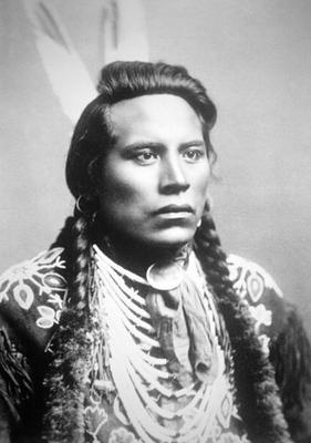 Curley, of the Crow tribe, one of Custer's scouts (b/w photo) 1849