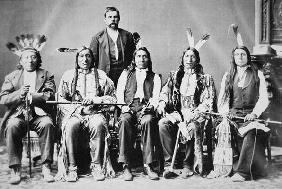Delegation of Sioux chiefs, led by Red Cloud (1822-1909) in Washington D.C. to see President Ulysses 19th