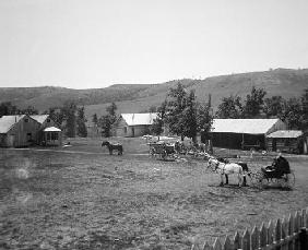 The Haylie Ranch, Crook County, Wyoming, c.1890 (b/w photo) 19th