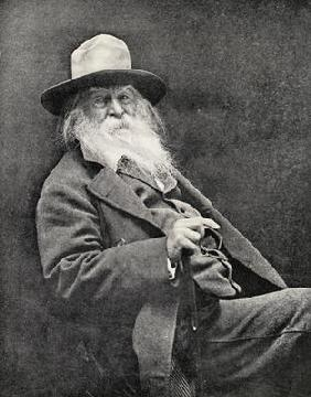 Walt Whitman (1819-91) (b/w photo) 19th