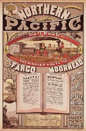 Northern Pacific Railroad Advertisement 19th