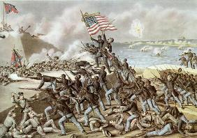 Black troops of the 54th Massachusetts Regiment during the assault of Fort Wagner, South Carolina, 1 13th