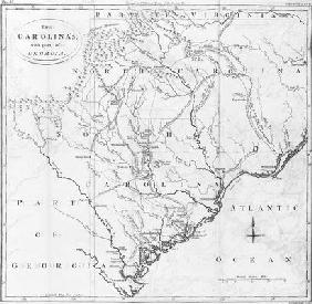 Map of the Carolinas with part of Georgia (engraving) 11th