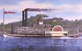 On the Mississippi, 1869 (colour litho) 15th