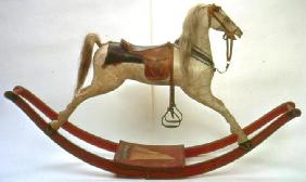 Rocking horse (wood & leather) 19th