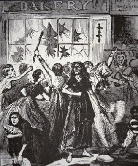The Bread Riot in Richmond, Virginia, 1863 (litho) 13th