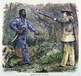 'The Discovery of Nat Turner' (1800-31) (colour litho) 1484