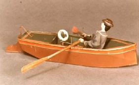 Toy boat and sailor, Ives, 1869 (wood & metal) 1625