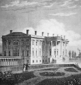 View of the White House, c.1800 (engraving) 1557