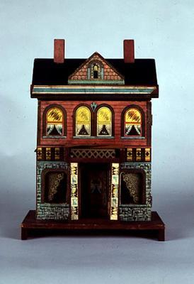 A Small R. Bliss multicoloured lithographed doll's house, c.1920 (mixed media on wood) 16th