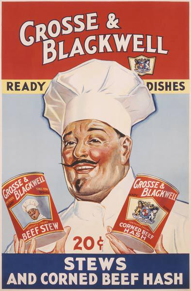Advertisement for Crosse & Blackwell Ready Dishes, printed by The American Litho Co., New York c.1940