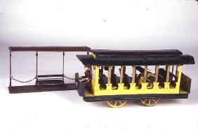 Toy Trolley and Shed, c.1900 (tin) 16th