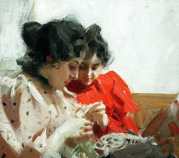 Anders Zorn / Lacy Seam / Painting, 1894