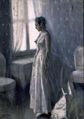 The Bride, 1886 (w/c on paper) 19th