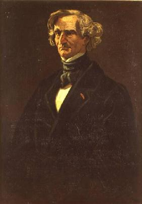 Portrait of Hector Berlioz (1803-69) formerly attributed to Honore Daumier (1808-79)