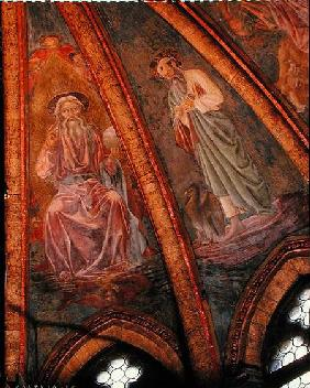 God the Father and St John, from the Vault of the Apse in the Chapel of St Tarasius 1442
