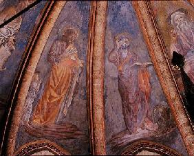 St Matthew and St Mark, from Vault of the Apse in the Chapel of St Tarasius 1442