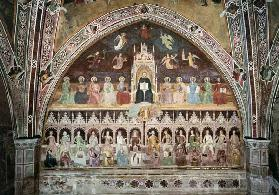The Triumph of Catholic Doctrine, personified in St. Thomas Aquinas, from the Spanish Chapel c.1365