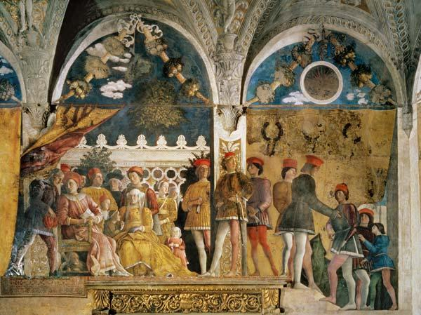 Marchese Ludovico Gonzaga III, his wife Barbara of Brandenburg, their children, courtiers and their 1465-74