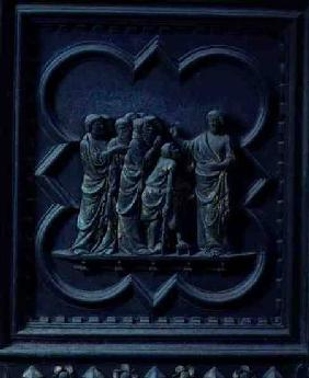 The Disciples Visit Jesus, fourteenth panel of the South Doors of the Baptistery of San Giovanni 1336