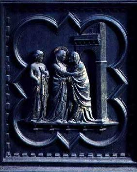 The Visitation, third panel of the South Doors of the Baptistery of San Giovanni 1336