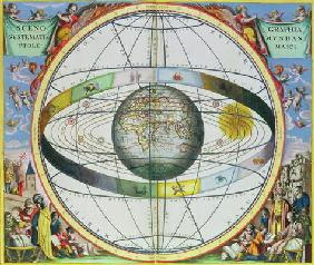 Map of Christian Constellations, from 'The Celestial Atlas, or The Harmony of the Universe' (Atlas c 16th
