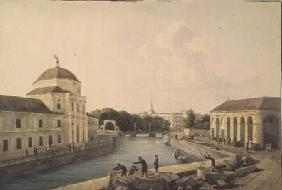 View of the Moika River by the Imperial Stables 1809  and