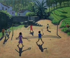 Badminton, Coonoor, India (oil on canvas)