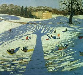 Calke Abbey House, Winter, 2002 (oil on canvas)