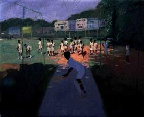 Cricket, Sri Lanka (oil on canvas)