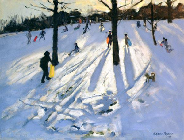 Snow, Rykneld Park, Derby, 2001 (oil on canvas)