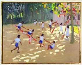 Playground, Sri Lanka, 1998 (oil on canvas)