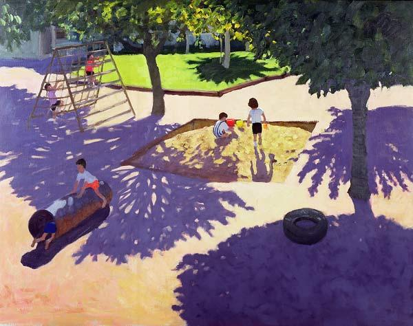 Sandpit, France (oil on canvas)