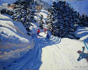 Ski Trail, Lofer, 2004 (oil on canvas)