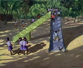 Slide, Mysore, 2001 (oil on canvas)