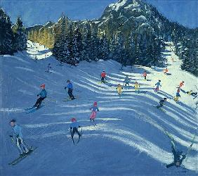 Two Ski-Slopes, 2004 (oil on canvas)