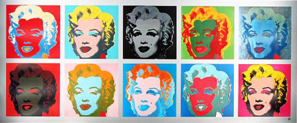 marilyn monroe tableau andy warhol als kunstdruck oder. Black Bedroom Furniture Sets. Home Design Ideas