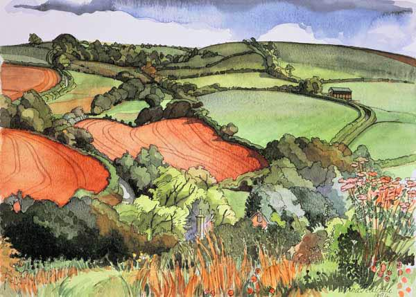Wellow, Bath, 1994 (w/c on paper)