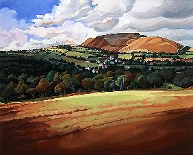 From the Train South Devon, No.2 (oil on canvas)