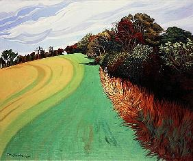 Little Solsbury Hill, Bath, 1994 (acrylic on canvas)