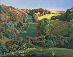 The Long Field, Yatton Keynell (oil on canvas)