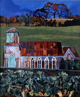 Tin Church, Solsbury Hill (acrylic on canvas)