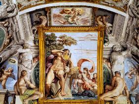 The 'Galleria Carracci' (Carracci Hall) detail of Polyphemus and Galatea 1597-1604