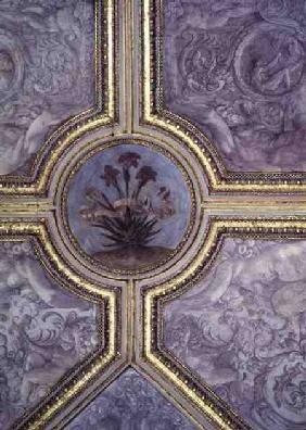 Floral ceiling decoration, from the 'Camerino' 1596