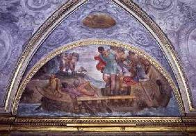 Lunette depicting Ulysses and the Sirens, from the 'Camerino' 1596