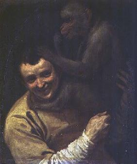 Man with Monkey