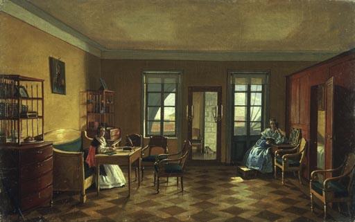 wohnzimmer im mezzanin eines herrenhause anonym haarlem als kunstdruck ode pool im wohnzimmer russland - Russen Bauen Pool Im Wohnzimmer